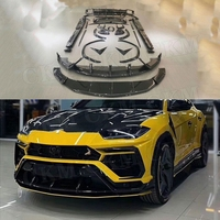 Dry Carbon fiber body Kit Bumper Guard Front Lip Rear Diffuser Spoiler Side Skirts Trunk Trims case For Lamborghini Urus