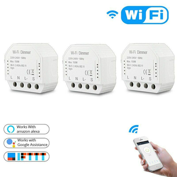 3 Pack Smart WiFi Light LED Dimmer Switch Smart Life/Tuya APP Remote Control 1/2 Work With Alexa Google Home IFTTT