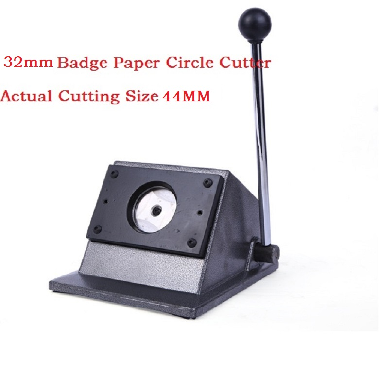 Button Badge Making Tools Paper Circle Cutter Round Cutting machine for 32mm button badge maker(Actual Cutting Size 44MM)