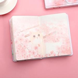 Image 4 - JIANWU ساكورا فتاة دفتر اللون الداخلية صفحة مخطط لتقوم بها بنفسك دفتر يوميات القرطاسية scool اللوازم المكتبية kawaii