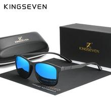 KINGSEVEN Men's Glasses Polarized Steampunk Round Sunglasses