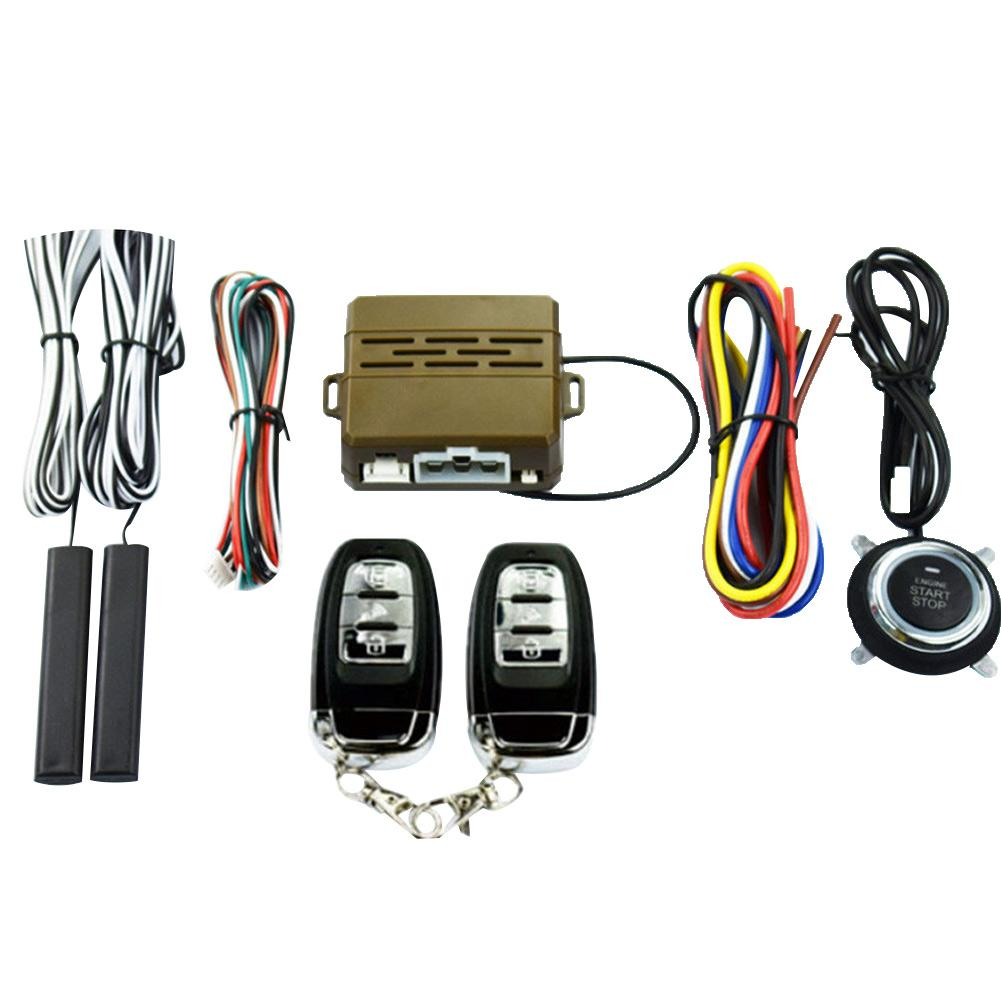 Car Key Passive Keyless Entry Push Button Remote Kit Alarm Start Security System Automobile Electric Accessories