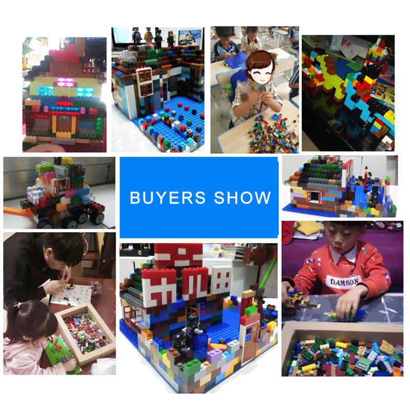 עיר Creative צבעוני בתפזורת סטי אבני בניין טכני חינוכי לבני משטרת צעצועי הרכבה לילדים קיד חג המולד מתנה