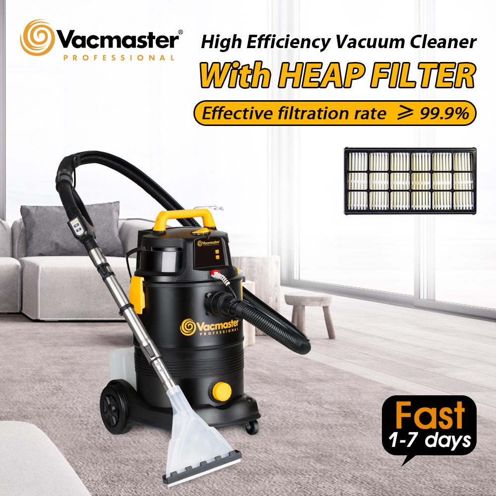 Vacmaster 2 In 1 Bucket Vacuum Cleaner Shampoo Washing Wet Dry Industrial Vacuum Cleaner For House Hotel Car Dust Collector