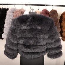 Fox Fur Winter silm Coat Jacket SA