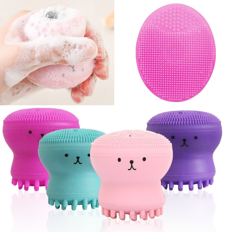 Octopus Shape Silicone Foam Face Cleansing Brush Pore Cleaner Exfoliator Face Scrub Washing Brush Face Cleanser Skin Care TSLM1