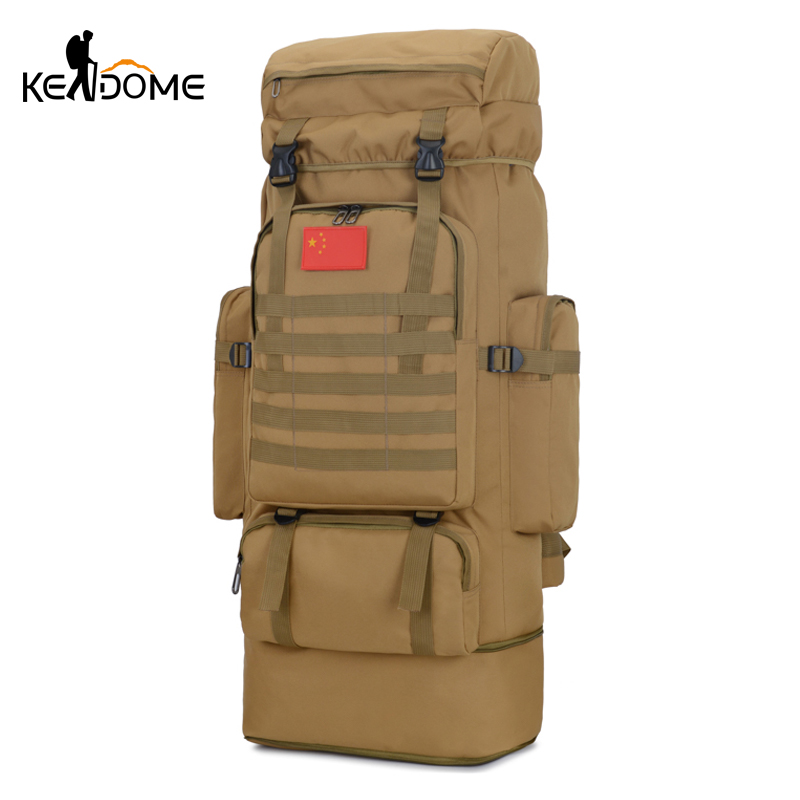 85L Military Tactical Camping Backpack Hiking Climbing Knapsack Rucksack Utility Nylon Bag Sport Army Molle Bag Travel XA25D