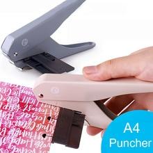 เห็ดหลุม T Type Punchers โน้ตบุ๊ค Scrapbooking SINGLE Hole Puncher หลวมคู่มือ Office Binding Punch