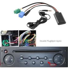 Car Bluetooth 5.0 Aux Cable Microphone Handsfree Mobile Phone Free Calling Adapter for Renault 2005-2011