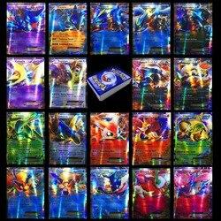 Takara tomy pokemons cartão 100 pces 80ex 20 mega não repetir brilhando cartões jogo batalha carte negociação crianças cartão pokemon brinquedo