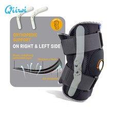 Rodillera transpirable ajustable, estabilizador ortopédico, rodilleras de soporte con bisagra interior Flexible, rodilleras deportivas