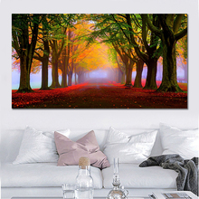 Modern Landscape Tree Canvas Paintings Modular Pictures Wall Art Prints for Living Room Home Decoration No Framed
