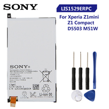 Original Replacement Sony Battery For SONY Xperia Z1 mini Xperia Z1 Compact D5503 M51w LIS1529ERPC Genuine Phone Battery 2300mAh
