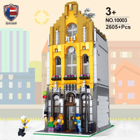 2020 New Creator City Series Ice Cream Shop MOC Street View Building Blocks Construction Toys For Boys Girls Child Gift