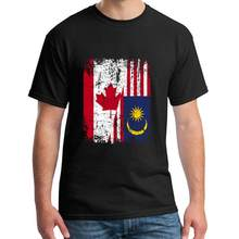 Graphic Canada Malaysia Flag t-shirt 3xl 4xl 5xl Comfortable Breathable Kawaii women t-shirts Building Outfit(China)