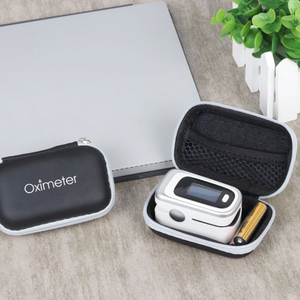 Oximeter Storage Bag Finger Pulse Oximeter Reasonable Layout Powerful Space Protective Case Hard Zipper Holder
