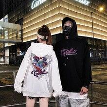 Spring autumn Sweatshirts new Hoodies Ghost printing lover loose hip hop streetwear Oversize Harajuku Men 2019