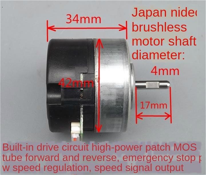 DC 12V 4800RPM Brushless Motor Emergency Stop PWM Speed Regulation Motor dc moto