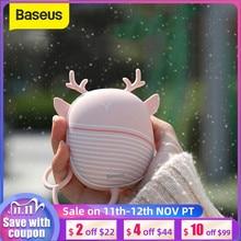 Chauffe mains Baseus chauffe mains coussin chauffant USB Rechargeable chauffe plat pratique poche Mini dessin animé chauffage électrique chaud avec lampe
