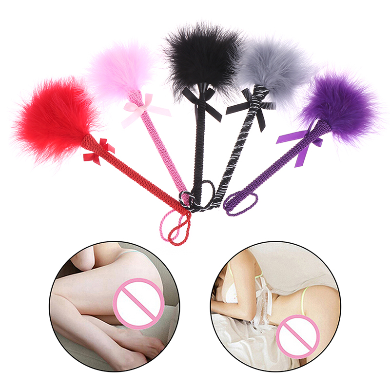 <font><b>Sexy</b></font> Feather Tickler Kinky <font><b>Naughty</b></font> Fancy <font><b>Dress</b></font> Spanking Paddle Whip Bondage Erotic Fetish Flirting BDSM Sex Toys For Couples image