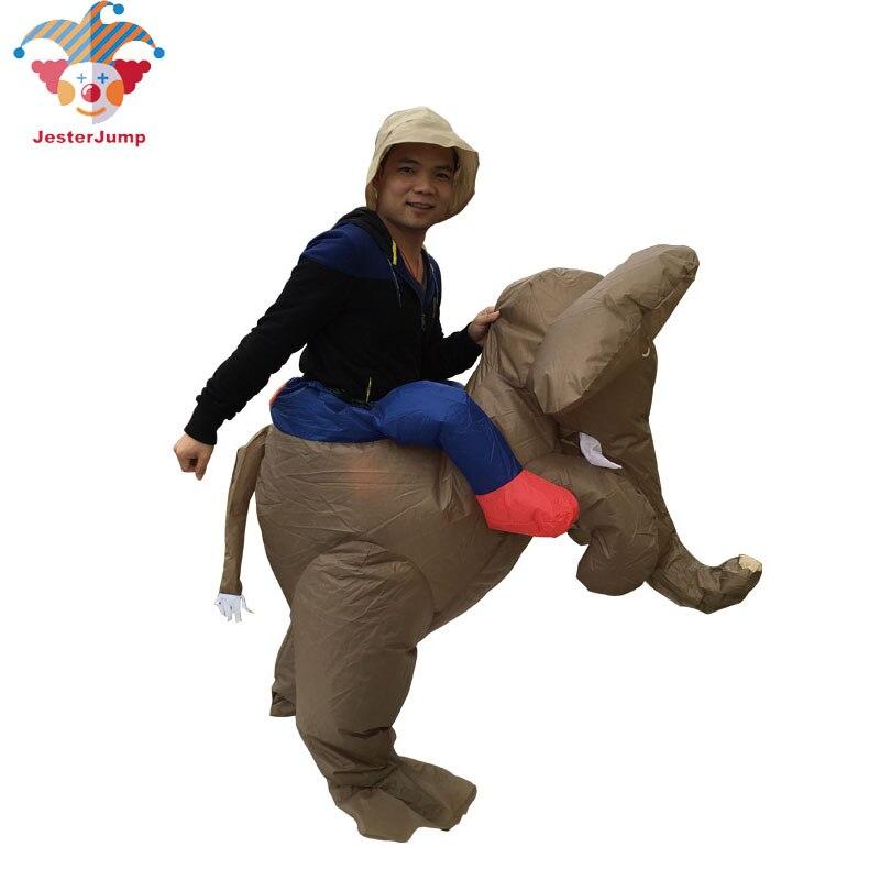 Бесплатная доставка Надувной Костюм Слона для взрослых мужчин вечерние костюмы животных