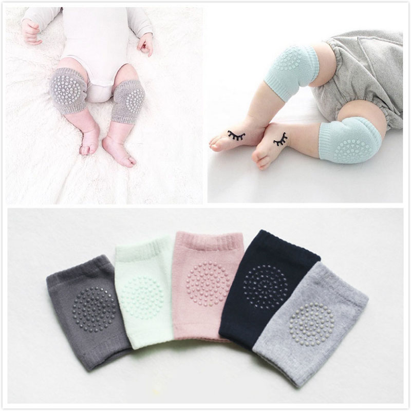 Sponge Mesh Baby Kids Knee Pads for Crawling Toddler Knee Protector Leg Warmers