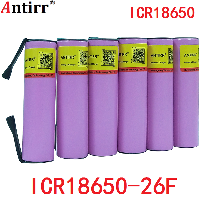 New 3.7V 2600mAh Rechargeable 18650 Li-ion Battery Original Lithium Battery For Samsung ICR18650 26F Batteries free shipping image