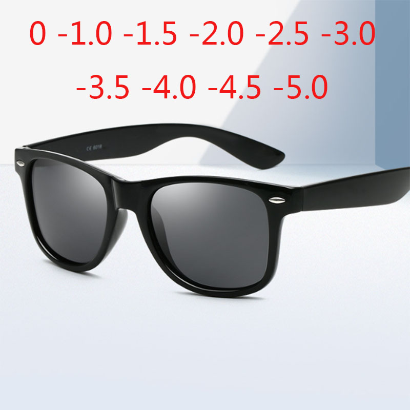 Vintage Rivets Polarized Sunglasses Men Women Driver Square  Prescription Sunglasses 0 -0.5 -1.0 -2.0 To -5.0