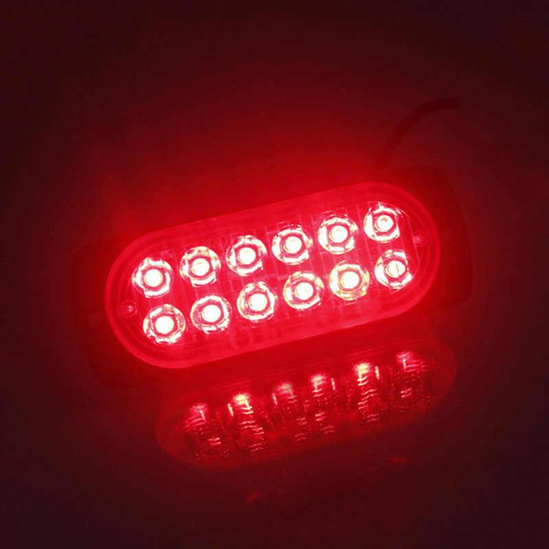 DC 12 V-24 V 36W 12 נוריות מחוץ לכביש רכב משאיות בטיחות דחוף עבודה אדום ערפל אור מנורת רכב קרוואן משאית LED דחוף אור