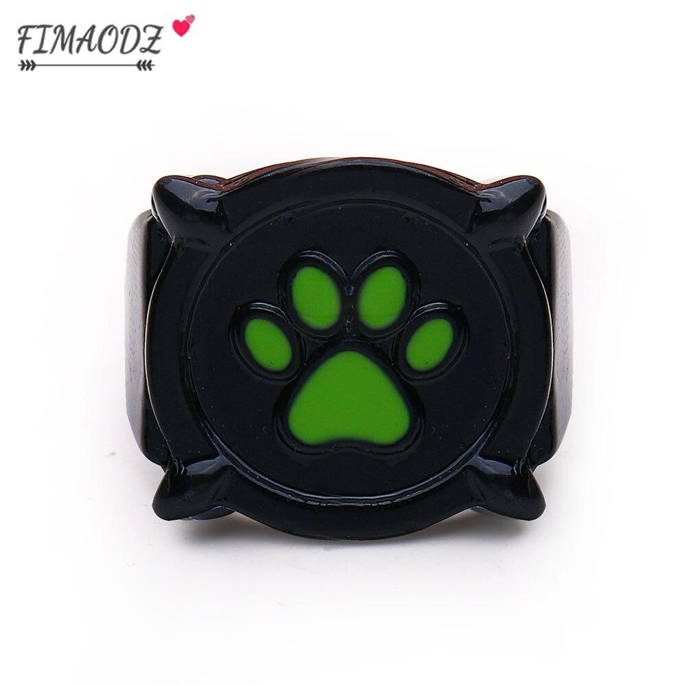 FIMAODZ черная кошка кольцо в виде лапы для мужчин и женщин зеленый животных «Щенячий патруль», с принтом мультфильма «Холодное сердце» ювелир...