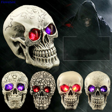 Halloween Decoration Novelty Creative Toys Funny Spoof Whole Person Props Resin Skull Shiny Ghost Props
