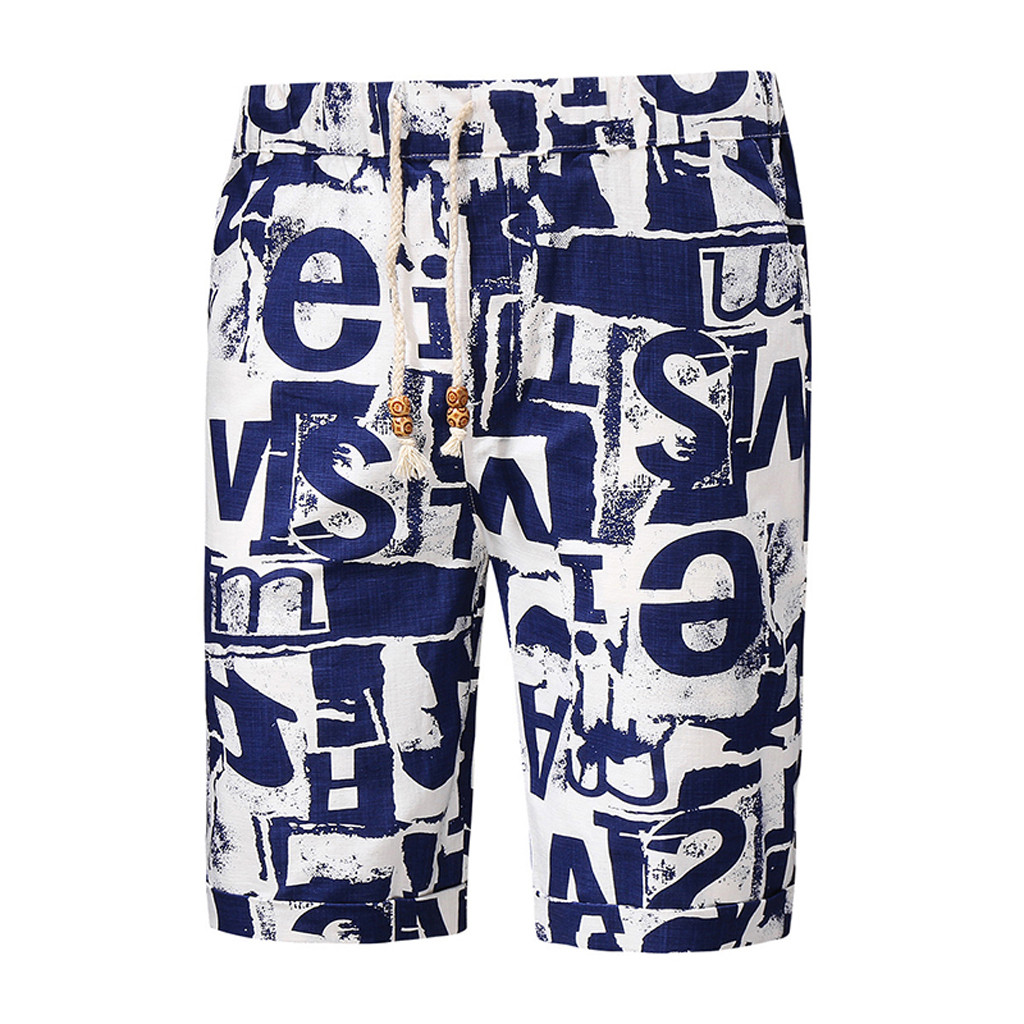 Shorts Men's Short Pants Fashionable Summer Print Trunks Quick Dry Shorts Pants Sexy 2020 Shorts Men Jeans