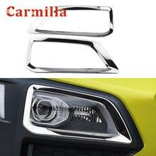 For Hyundai Kona Kauai 2017 2018 2019 2020 Chrome Front Fog Light Lamp Cover Trim Foglight Decoration Accessories Car Styling