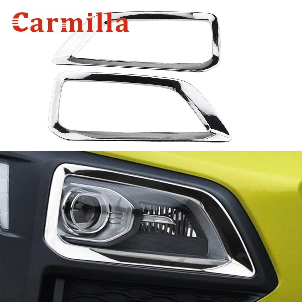 Для Hyundai Kona Кауаи 2017 2018 2019 2020 хром передние противотуманные фары светильник абажур для лампы с металлическим каркаксом отделка туман светильник украшения аксессуары для стайлинга автомобилей|Хромирование|   | АлиЭкспресс