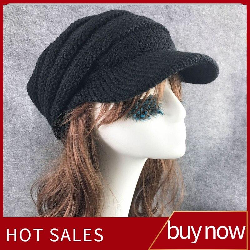 Women Winter Hat Slouchy Oversize Knitting Beanie Cap Warm Ski Hat Ladies Beanie Skullies Bonnet Hat Gorros Mujer Invierno 2019