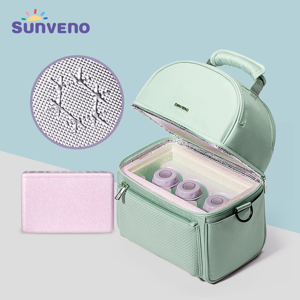 Sunveno Tin Foil Cooler Bag With EPP Box Breast Milk Preservation Bag Waterproof Lunch Bags Picnic Bag Insulation Thermal Bag