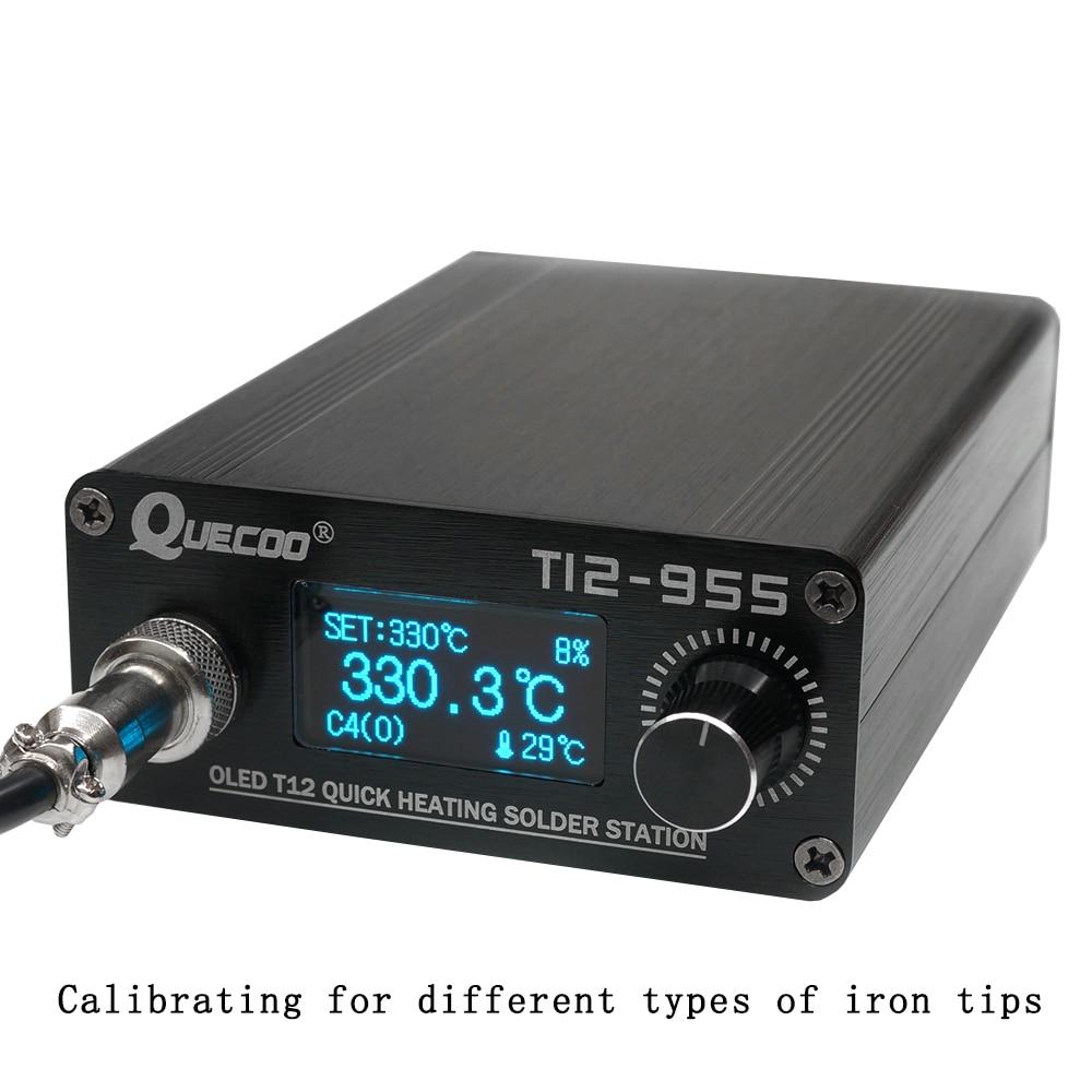 STM32 Iron 1s 1 T12 Station Station Iron Soldering Tool Electronic V2 Plug Welding No Tip 955 Solder Soldering 3inch Digital