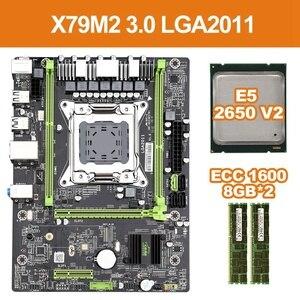 X79 M2 3,0 LGA2011 материнская плата Поддержка NVME M.2 SSD SATA3.0 SATA2.0 USB3.0 с E5 2650V2 Процессор 2x8G 1600 ECC память aliexpress алиэкспресс goods лучшие популярные товары заказать почтой купить китая бесплатной доставкой дешевые shopping 2020