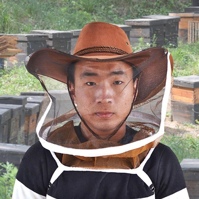 Beekeeping Cowboy Hat Beekeeping Protector Cap Beekeeper Fly Insect Net Cowboy Comfortable Design Anti Bee Hat