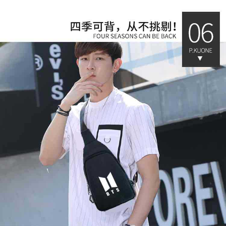 Cross Border New Style Wish Amazon MEN'S AND WOMEN'S BTS Shoulder Bag Trend Bag BTS Shoulder Bag A Generation Of Fat