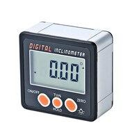 Mini caixa de nível magnético digital calibre de ângulo chanfrado instrumento eletrônico inclinômetro transferidor ângulo finder calibre chanfrado|Transferidores| |  -