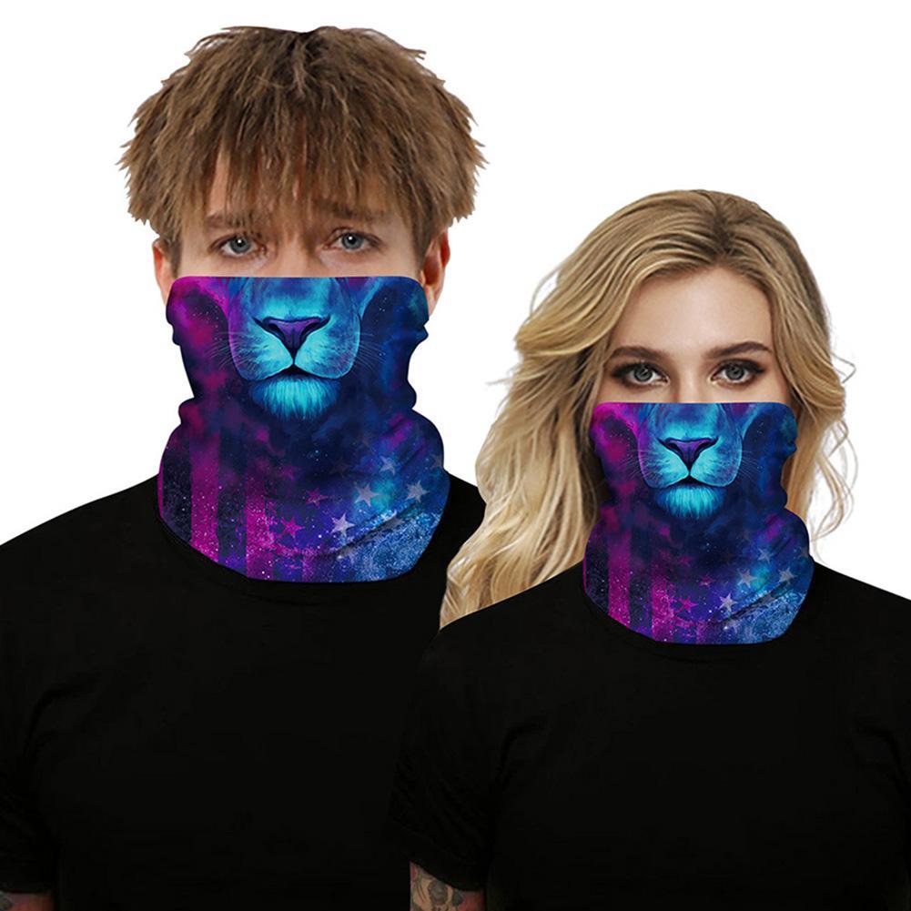 Wolf Animal Outdoor Dust Sun Protection Bandana Face Mask Wind And Dust Resistance Headband NeckScarf Against Viruses Safe Mask