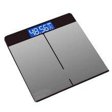 AC86-закаленное Стекло цифровая объемная Вес весы зарядка через USB ЖК-дисплей Ванная комната весы Вес корпус монитора жиров весы
