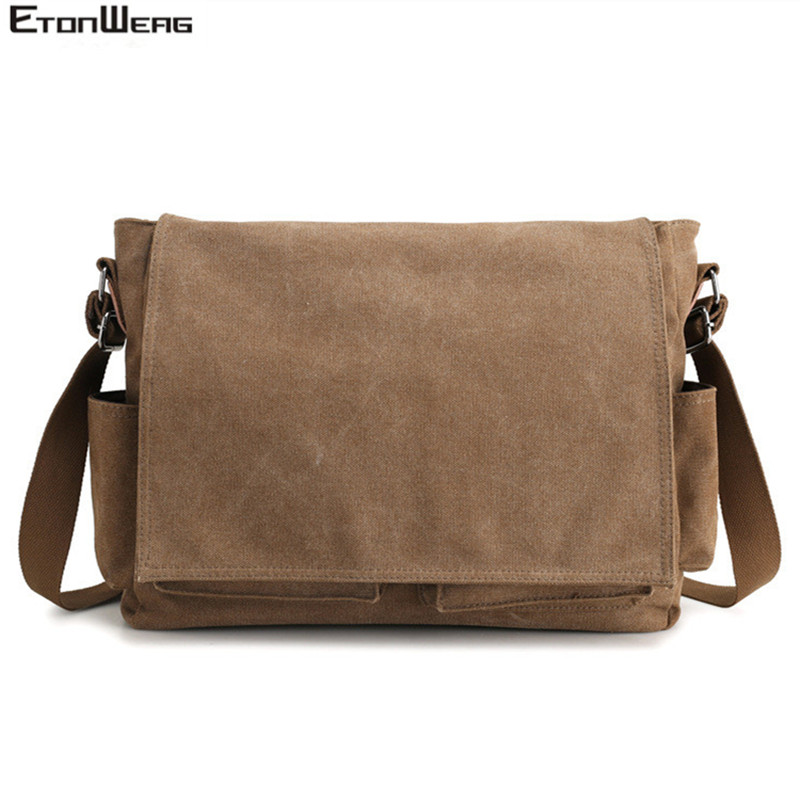 Men's Brand Canvas Briefcase Business Office Man Messenger Bag Casual Male Computer Laptop Bag Cover Large Crossbody Bags 2019