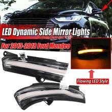 2 stücke Fließende Blinker Licht LED Seite Flügel Rückspiegel Dynamische Anzeige Blinker Für Ford Für Mondeo Für Fusion 2013-2018