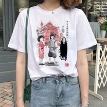 Lus Los Spirited Away t shirt female streetwear cartoon new tshirt women Funny Totoro T Shirt clothe