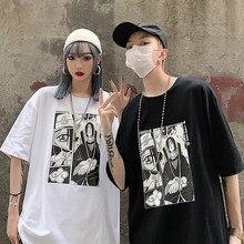 Camiseta feminina unissex naruto harajuku legal anime japonês camisetas uchiha itachi impressão de manga curta t camisa streetwear casual topo