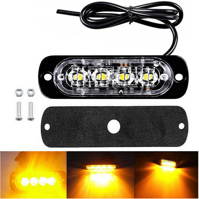 12-24V 12W 4LED Work Light Bar Fog Lights For Driving Lamp Offroad Car Truck SUV
