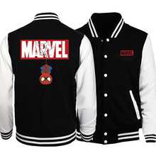 MARVEL Spiderman Print Mens Baseball Jacket 2019 Autumn New Baseball Uniform Men