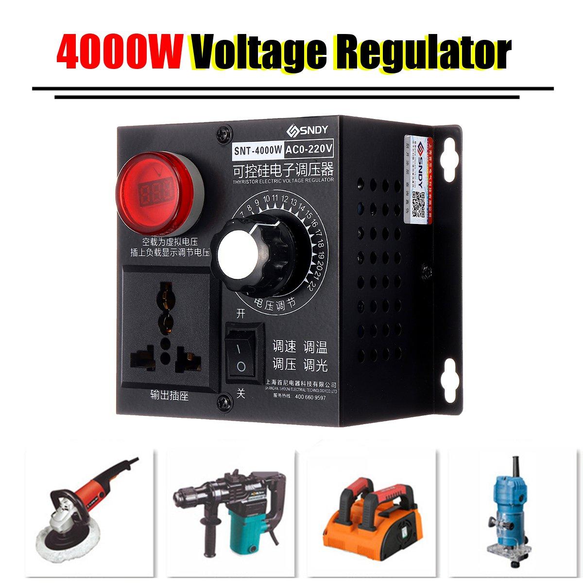 High-power Motor Fan 18A AC 220V 4000W Voltage Regulator Thyristor Electronic Variable Speed Controller